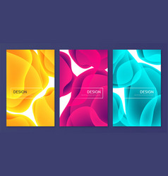 set abstract minimalist covers brochure vector image