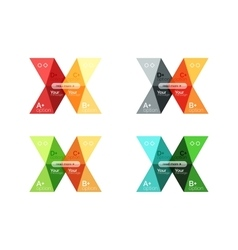 Set color abstract arrow option infographic vector