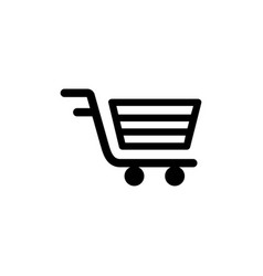 shopping cart icon in flat style for apps ui vector image