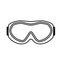 ski goggles black color icon vector image