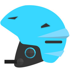 Ski helmet isolated on white background vector