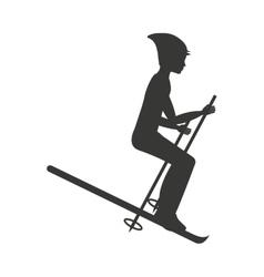 snow ski isolated icon design vector image
