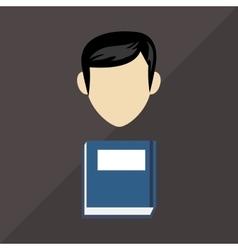 Social media design person icon colorful vector