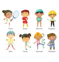 sports kids vector image