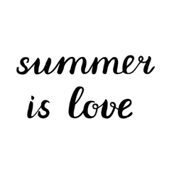 Summer is love lettering vector
