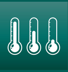 Thermometers icon with different levels flat on vector