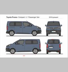 Toyota proace pass compact van l1 2016-present vector