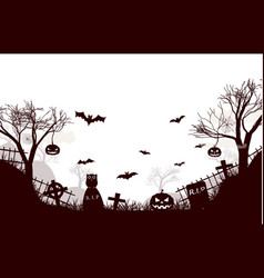 traditional halloween night background poster vector image
