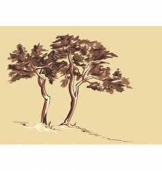 trees sketch vector image
