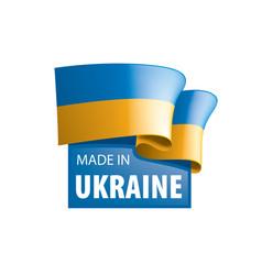 Ukraine flag on a white vector