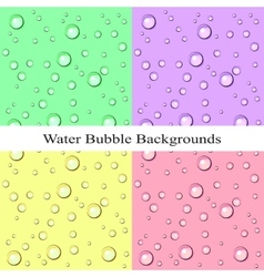 Water Bubble Backgrounds vector image