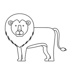 Wild and big lion vector