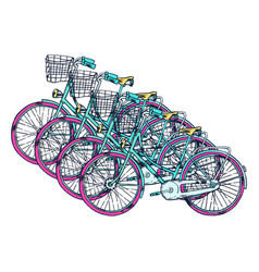 bicycle with cart vector image