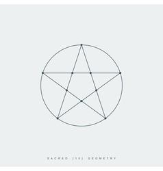 sacred geometry pentagram vector image vector image