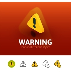 Warning icon in different style vector image vector image