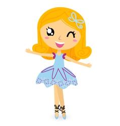 cute ballet dancer girl vector image vector image