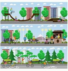 flat means of transport concept posters vector image vector image