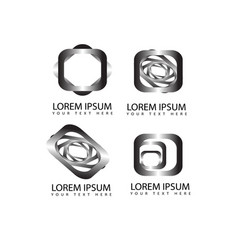 abstract square shapes logo symbols and icons vector image