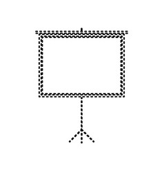 blank projection screen black dashed icon vector image