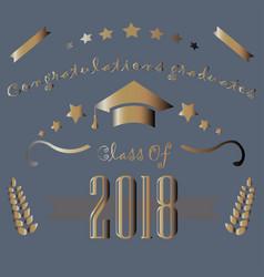 congratulations graduatuets of year 2018 vector image vector image