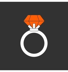 Ring with ruby vector image vector image