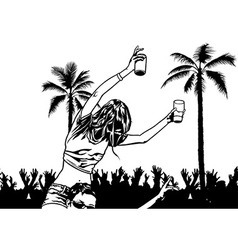 Tropical Dance Party vector image vector image