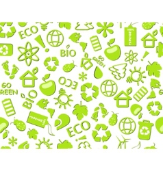 go green eco seamless pattern vector image vector image
