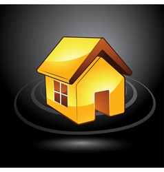 modern house symbol vector image vector image