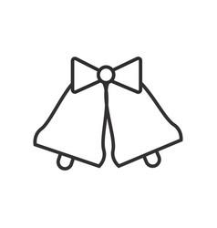 wedding bells line icon sign vector image vector image