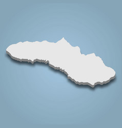 3d isometric map sumba is an island vector