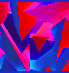 Abstract background with blue and red triangular vector