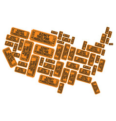 America made out of welcoming raffle tickets vector