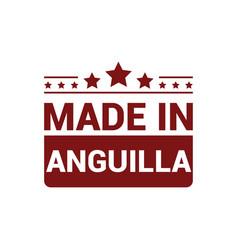 anguilla stamp design vector image