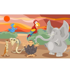 animals group cartoon vector image