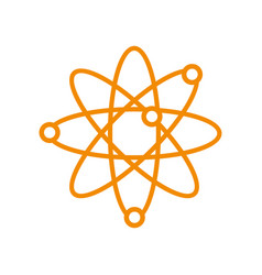 atom science orbit outline symbol design graphic vector image