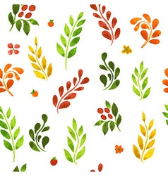 Autumn leafs pattern vector image