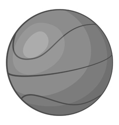 Basketball icon gray monochrome style vector