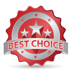 best choice sticker vector image
