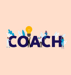 business people in coaching and training concept vector image
