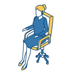 business woman on chair vector image