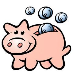 Cartoon a happy money piggy bank vector
