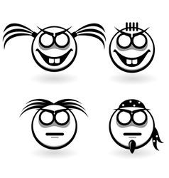 cartoon emotion icons vector image