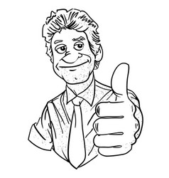 Cartoon image man giving approval vector