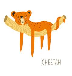 Cheetah africa originating animal sleeping vector