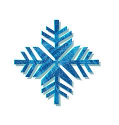 christmas sparkling snowflake logo design vector image