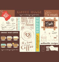 Coffe house placemat vector