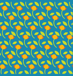 Colorful cute graphic floral background vector