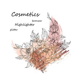 cosmetics advertising vector image