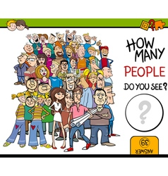 Counting people activity vector