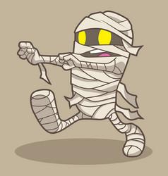 cute mummy halloween cartoon vector image